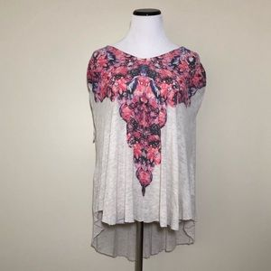 Free People Open Back High Low Top